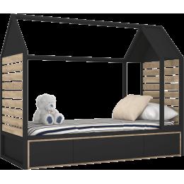 TUTU BLACK Łóżko domek T5
