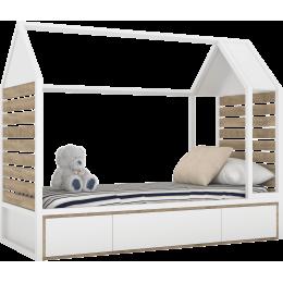 TUTU WHITE Łóżko domek T5